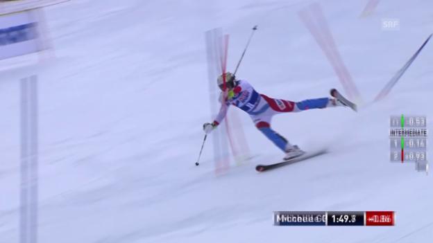 Video «Ski: Slalom Frauen, Santa Caterina, 2. Lauf Michelle Gisin» abspielen