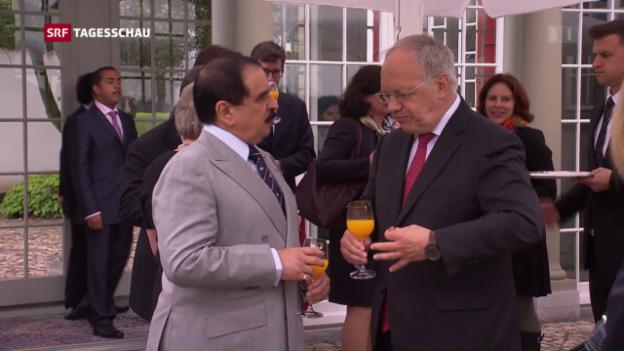 Video «König von Bahrain in Bern» abspielen