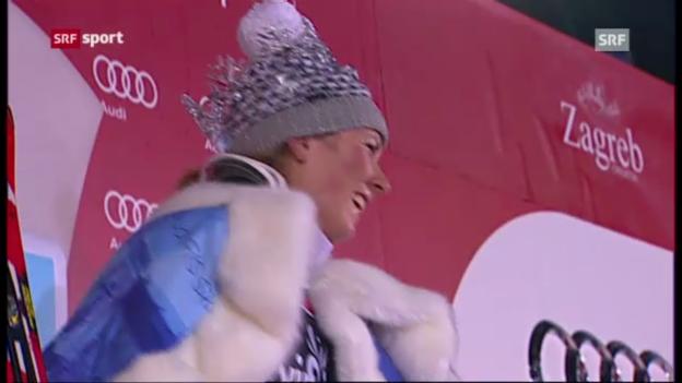 Video «Ski: Frauenslalom Zagreb («sportaktuell»)» abspielen