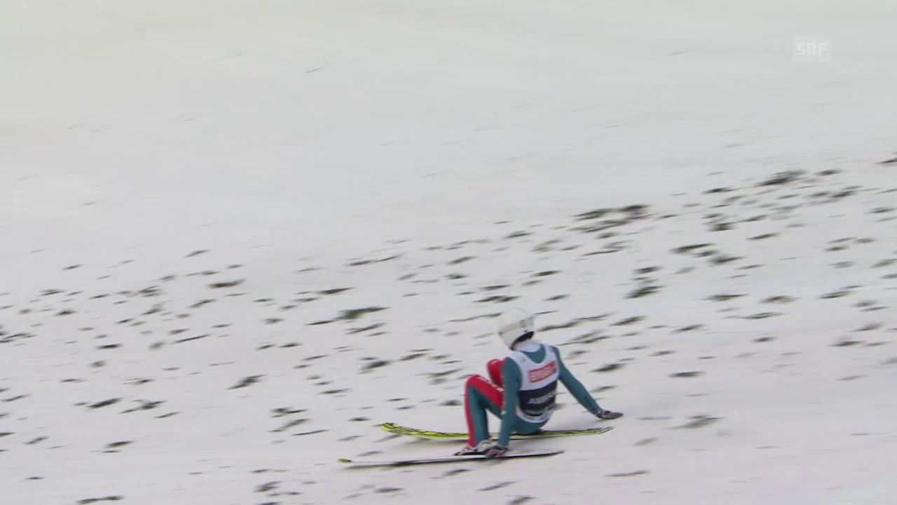 Griff in den Schnee - Simon Ammann verpasst Schweizer Rekord