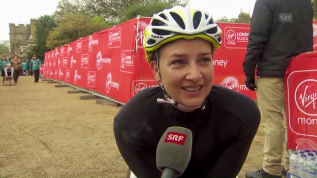 Video «Interview mit Manuela Schär, Zweite beim London Marathon» abspielen