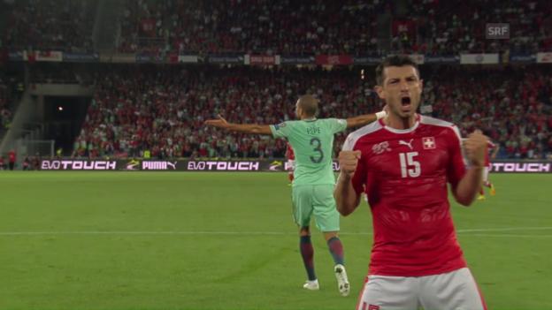 Video «Zusammenfassung Schweiz - Portugal» abspielen