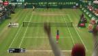 Video «Federer feiert achten Erfolg in Halle» abspielen