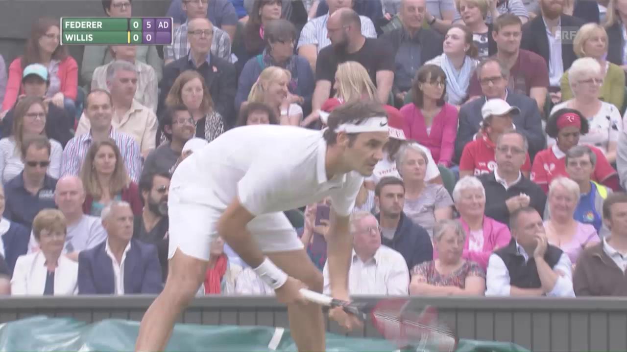 Federer - Willis: Die Live-Highlights