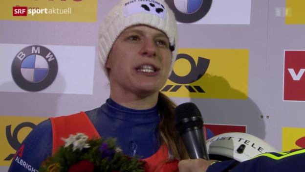 Video «2. WM-Medaille für Rodlerin Kocher» abspielen