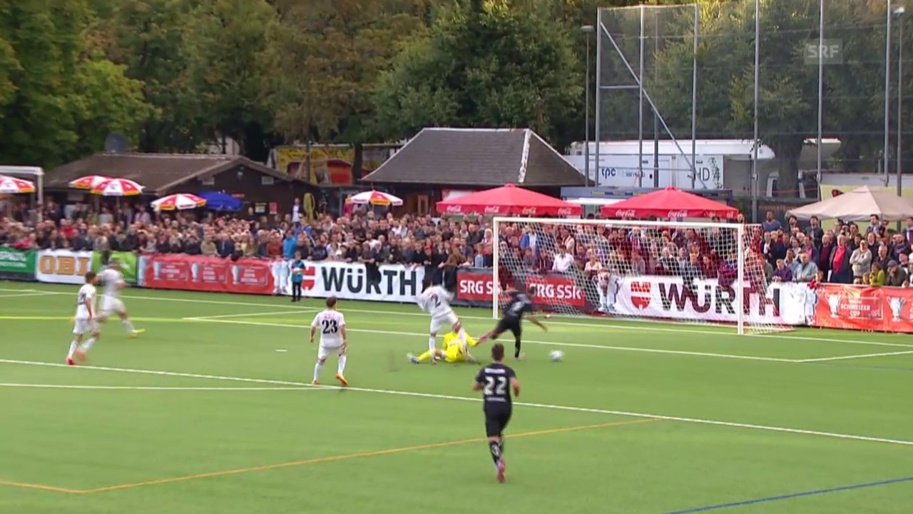 Fussball: 2. Runde Schweizer Cup, Breitenrain-St. Gallen, 2:0 St. Gallen