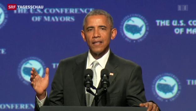 Video «Obama kritisiert Waffengesetze» abspielen