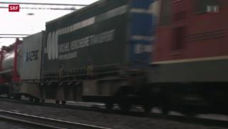 Video «Ständerat: grünes Licht für Ausbau der NEAT-Zufahrtsstrecken» abspielen