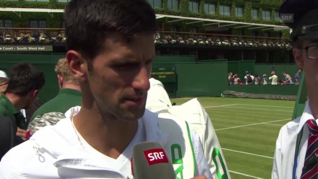 Video «Tennis: Wimbledon, Interview Djokovic vor dem Finaltag» abspielen