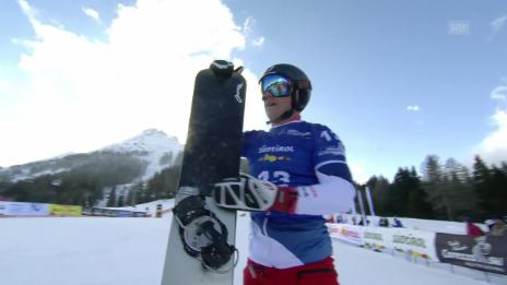 Link öffnet eine Lightbox. Video Schweizer Snowboarder überzeugen in Carezza abspielen