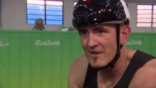 Video «Nach verpasster Medaille: Enttäuschung bei Beat Bösch» abspielen
