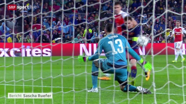 Video «Barcelona besiegelt Arsenals Out» abspielen