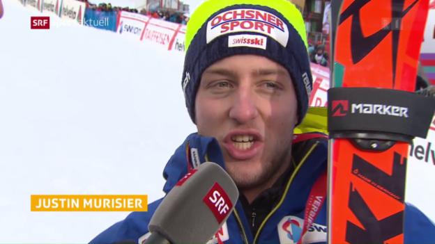Video «Swiss-Ski-Fahrer enttäuschen in Adelboden» abspielen