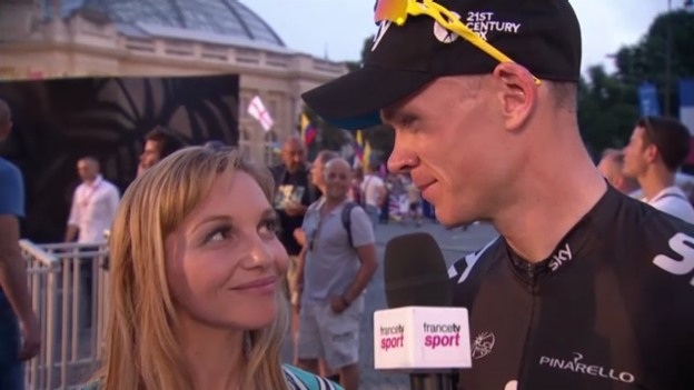 Video «Rad: Interview Chris Froome und Verlobte» abspielen
