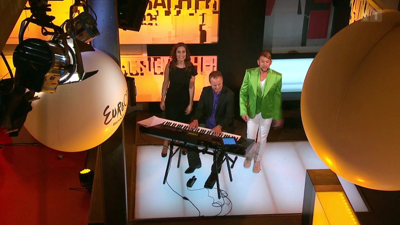 Il pleut de l'or mit Michael von der Heide und Sandra Studer