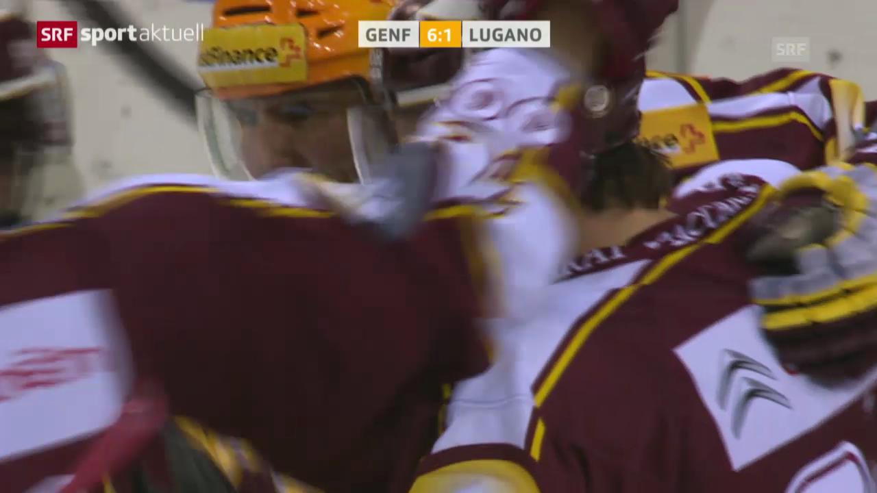 Eishockey: Playoff-Viertelfinals, Spiel 3, Genf-Lugano («sportaktuell», 15.3.14)
