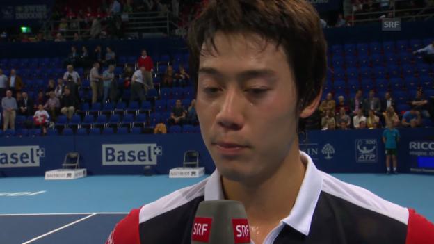 Video «Interview mit Nishikori («sportlive»)» abspielen