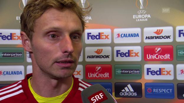 Video «Fussball: Europa League, 3. Spieltag, Basel - Belenenses, Interview mit Germano Vailati» abspielen