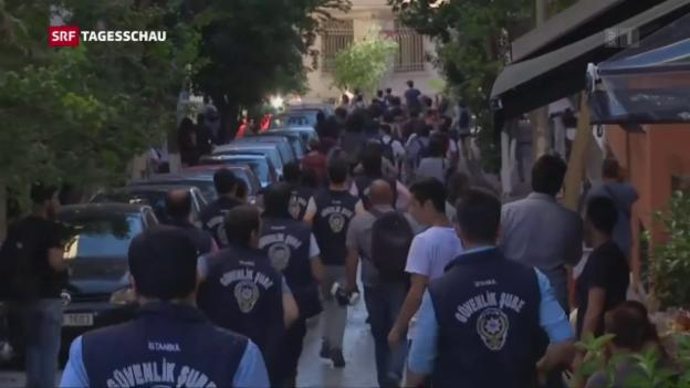 Video «Polizei geht gegen Demonstranten vor» abspielen