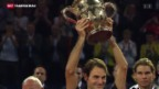 Video «Federer gewinnt Swiss Indoors» abspielen