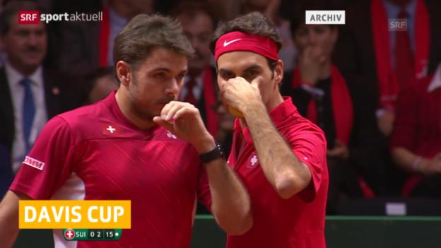 Video «Tennis: Davis Cup, Verzicht Federer und Wawrinka» abspielen