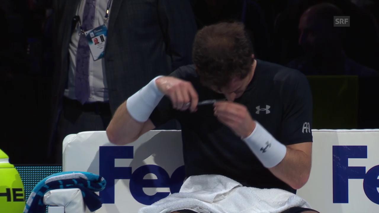 Tennis: ATP Finals, Andy Murray schneidet sich die Haare