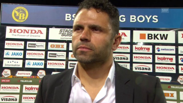 Video «Fussball: Super League, YB-Aarau, Interview Uli Forte» abspielen