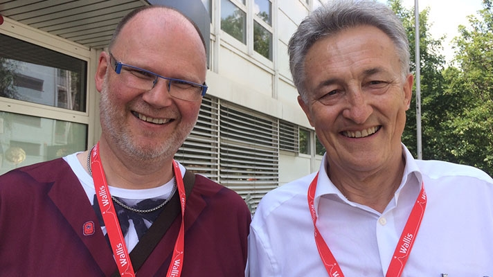 «Chrampfer» Hans-Rudolf Mooser und Edi Schmid
