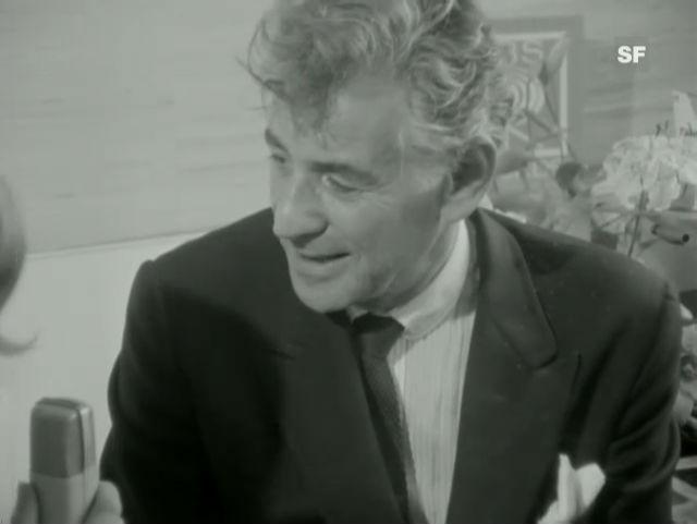 Leonard Bernstein und Heidi Abel