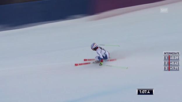 Video «Ski: Riesenslalom in Beaver Creek, der 1. Lauf von Carlo Janka» abspielen