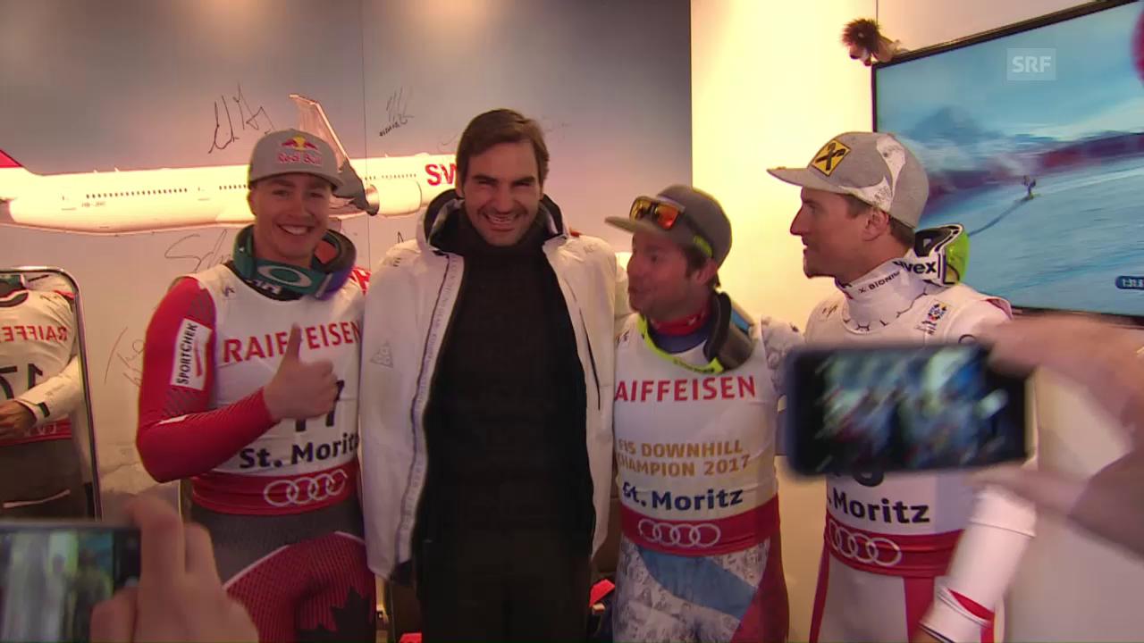 Feuz und das Foto mit Federer