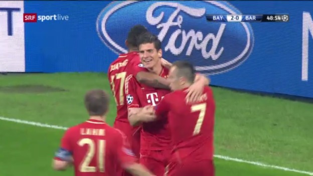 Video «Highlights Bayern - Barcelona («sportlive»)» abspielen