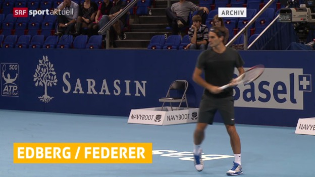 Video «Federer: mögliche Zusammenarbeit mit Edberg («sportaktuell», 19.12.2013)» abspielen