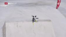 Link öffnet eine Lightbox. Video Die Schweizer Freeskier machen sich in Zermatt fit für die Saison abspielen