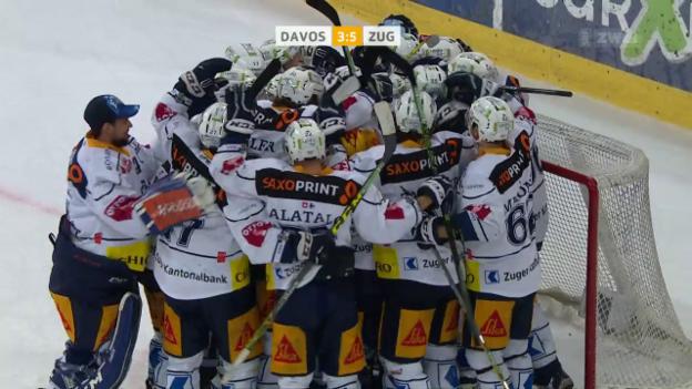 Video «Zug steht nach Sieg über Davos im Playoff-Final» abspielen