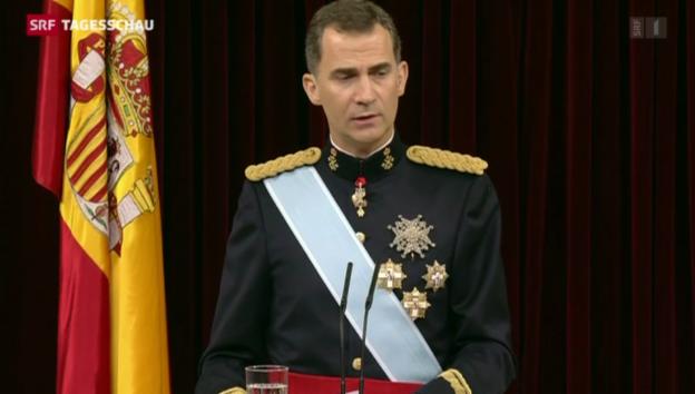 Video «Felipe will spanische Monarchie erneuern» abspielen