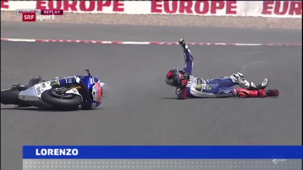 Video «Lorenzos Sturz auf dem Sachsenring» abspielen