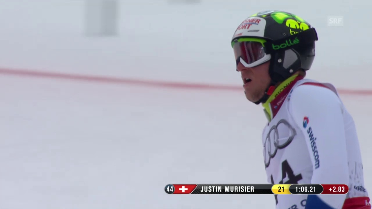 Ski-WM Vail/Beaver Creek, SL Männer, 1. Lauf Justin Murisier