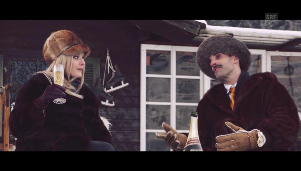 Chic im Schnee: Ausländer