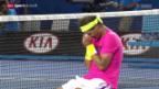 Video «Tennis: Rafael Nadal muss zittern» abspielen
