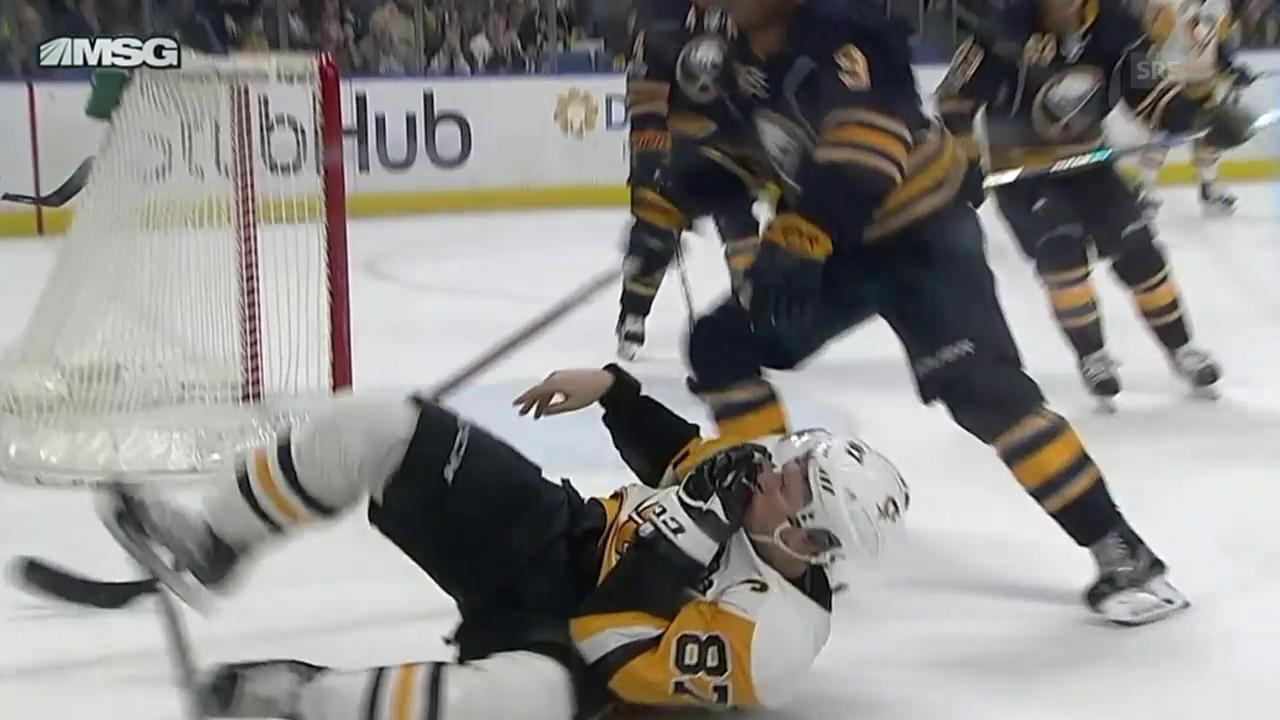 Crosby zaubert – und blutet (Quelle: NHL)