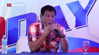 Video «Hardliner gewinnt philippinische Wahl» abspielen