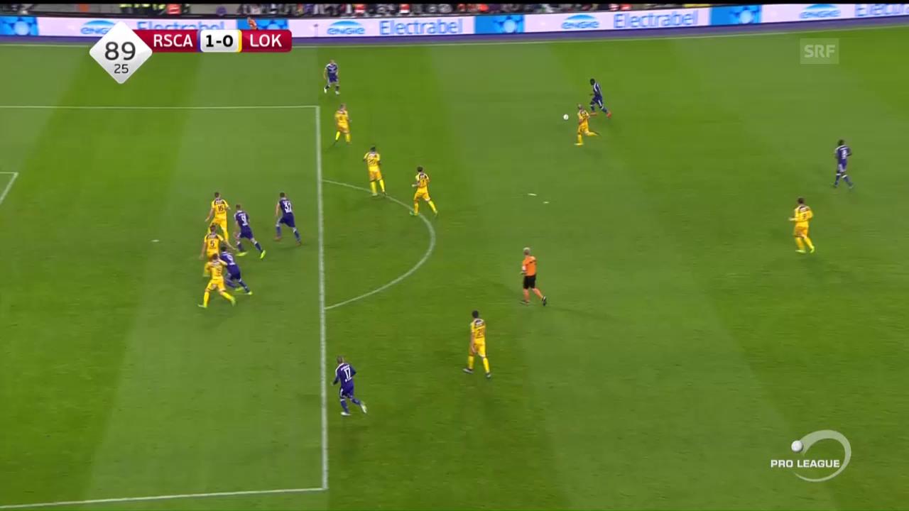 Anderlecht schlägt Lokeren dank Tor in der 90. Minute