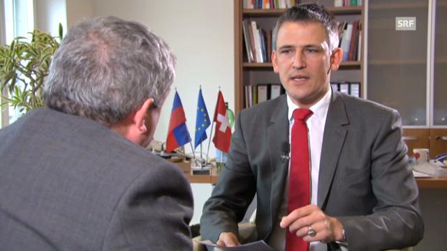 EU-Botschafter Richard Jones im Gespräch mit Christoph Nufer