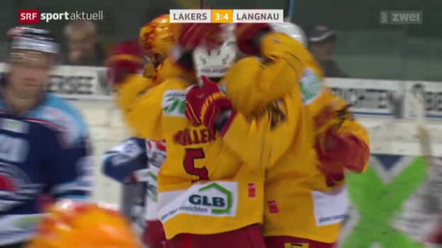 Video «Eishockey: NLA/B, Ligaqualifikation, Lakers - Tigers» abspielen