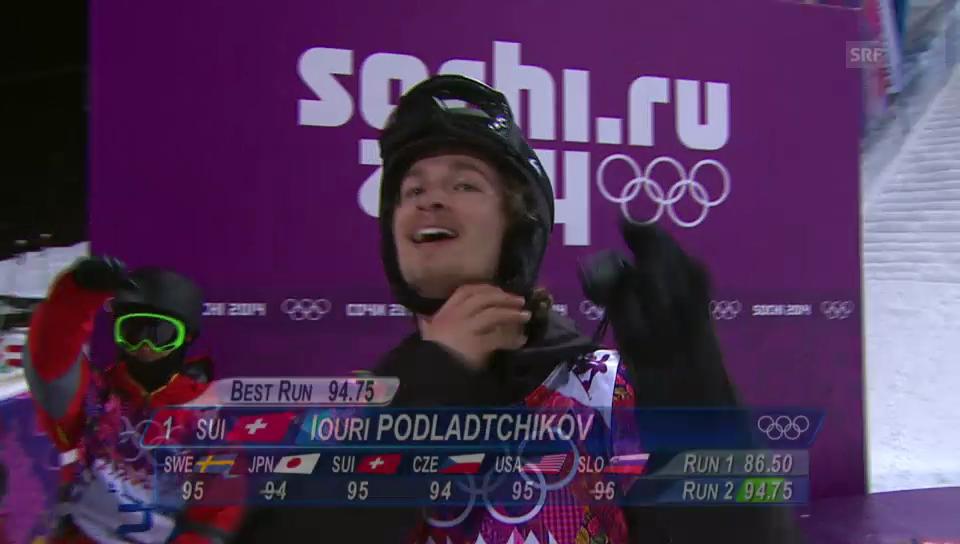 Snowboard Halfpipe: 2. Final-Run von Iouri Podladtchikov (sotschi direkt, 11.02.2014)