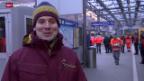Video «Ski: In Wengen mit Daniel Albrecht: «Die Anreise»» abspielen