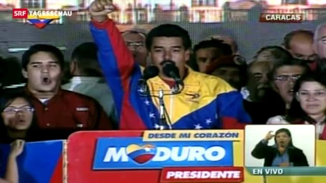 Chávez-Ziehsohn Maduro gewinnt Präsidentschaftswahl