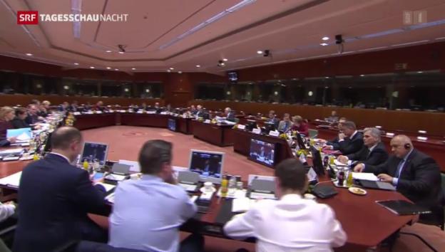 Video «EU-Gipfel hält an Russland-Sanktionen fest» abspielen