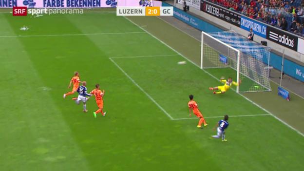 Video «Fussball: Super League, Luzern - GC» abspielen